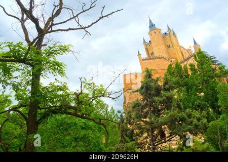 Alcázar of Segovia, Segovia, UNESCO World Heritage Site, Castilla y León, Spain, Europe.