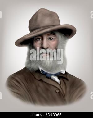 Walt Whitman 1819-1892 American Poet Essayist Journalist Stock Photo