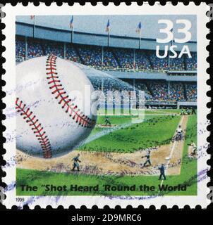 Shot Heard 'Round the World' on postage stamp
