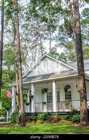 Louisiana Saint St. Tammany Parish Abita Springs, home residence house historic, - Stock Photo