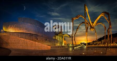 The 'Maman' by Louise Bourgeois, outside Guggenheim Museum, Bilbao, Basque Country, Spain