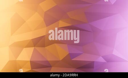 Abstract multicolored geometric background or wallpaper with polygons and triangles, 3D rendering illustration, polygonal texture backdrop 4K
