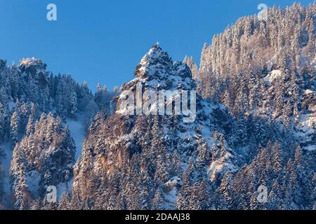 geography / travel, Germany, Bavaria, Lenggries, top the Demelspitz at Brauneck, Lenggries, Upper Bava, Additional-Rights-Clearance-Info-Not-Available - Stock Photo