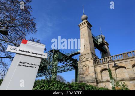Henrichenburg boat lift, Industrial Heritage site by Dortmund Ems Canal, North Rhine-Westphalia, Germany