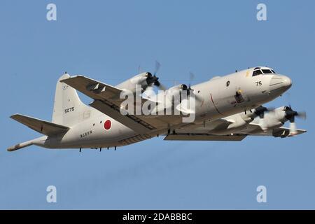 LOCKHEED P-3C ORION MARITIME PATROL AIRCRAFT OF THE JAPANESE NAVY (JMSDF). - Stock Photo
