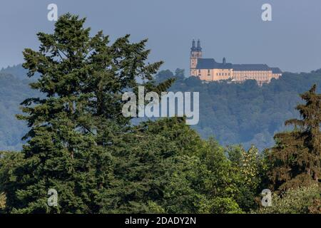 geography / travel, Germany, Bavaria, Bad Staffelstein, view from monastery Fourteen Holy Helpers on m, Additional-Rights-Clearance-Info-Not-Available