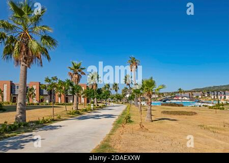 Alacati,izmir,turkey-august 15,2020.Resort Zigana Alacati is located in a bay surrounded by the enchanting texture of the Aegean sea .
