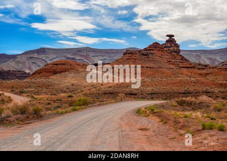 Landscape and natural geologic formation at Mexican Hat, Utah. - Stock Photo
