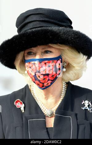 Berlin, Germany. 15th Nov, 2020. Camilla, Duchess of Cornwall, at the reception at the Federal President of Germany in Bellevue Palace on November 15, 2020 in Berlin, Germany Credit: Geisler-Fotopress GmbH/Alamy Live News
