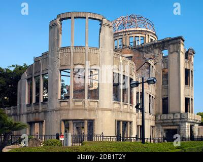 Hiroshima. Japan. 04.12.07. Preserved ruins of the A-Bome Dome in Hiroshima, Japan. One of only a few buildings at Ground Zero on August 6 1945 to sur
