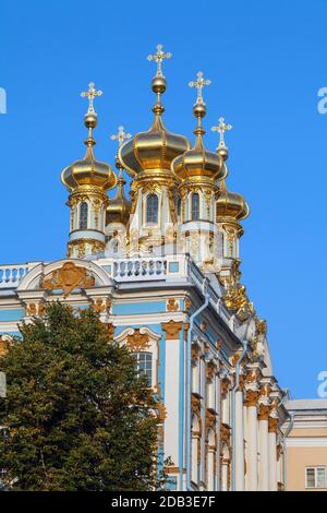Imperial Court Church of the Resurrection in the Great (Catherine) Palace of Tsarskoe Selo, Pushkin, Russia.