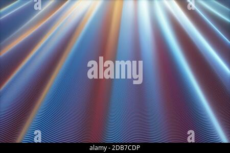 3D illustration. Abstract background image concept. Colorful mesh, interconnected lines and dots.