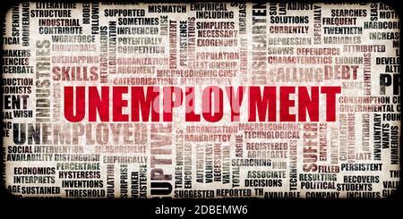 Unemployment Rates Due to Coronavirus Pandemic Economic Effects - Stock Photo