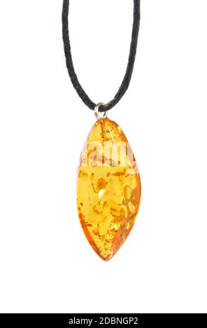beautiful amber stone over white