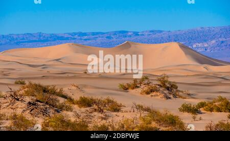 Beautiful Mesquite Sand Dunes at Death Valley California - USA 2017