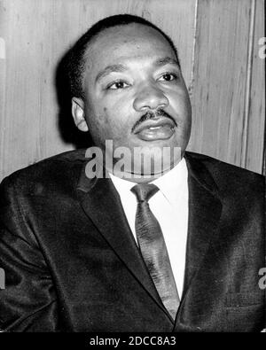 The leader of the civil rights movement in America, the Reverend Martin Luther King Jr
