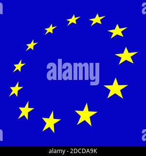 European Flag blue background illustration - Stock Photo