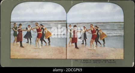A frolic at Rockaway Beach, N. Y.., New York (State), Long Island (N.Y.), Long Island Sound (N.Y. and Conn