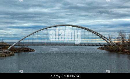 Humber Bay Arch Bridge. Toronto Ontario Canada.