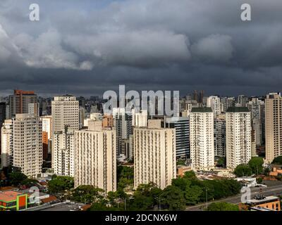 The rain is coming soon. Sao Paulo city, Brazil.