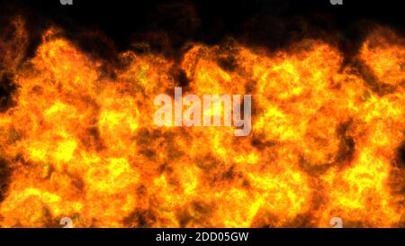 Illustrated background of roiling red and yellow clouds of intense energy and searing heat