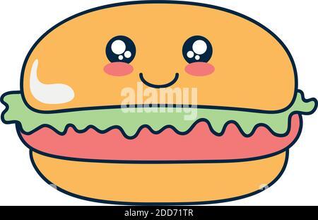 WE-WHLL Hamburger Cheeseburger Porte-cl/és en p/âte polym/ère avec Pendentif Simulation de Nourriture
