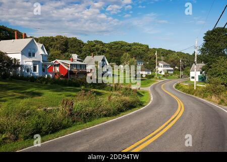 Route 32, New Harbor, Maine, USA