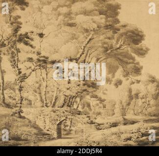 Peamore Park, Exeter, 1776 By Francis Towne, Tree, Landscape, Watercolour, Ink, Topographical Views, England, Devon - Stock Photo