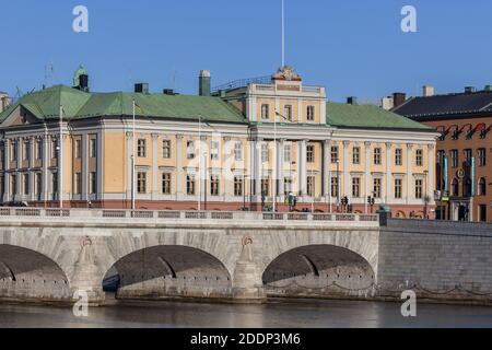 geography / travel, Sweden, Stockholm, Heir Prince's Palais with Norrbron, Norrmalm, Additional-Rights-Clearance-Info-Not-Available - Stock Photo
