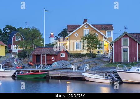 geography / travel, Sweden, Stockholm laen, Nynäshamn, harbour Vaesterhamn in Landsort on Oeja, Soeder, Additional-Rights-Clearance-Info-Not-Available