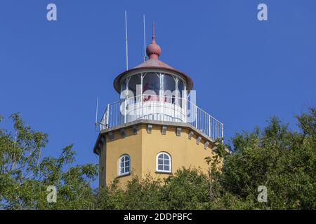 geography / travel, Denmark, Zealand, isle Mon, lighthouse on the isle Mon, Zealand, Additional-Rights-Clearance-Info-Not-Available