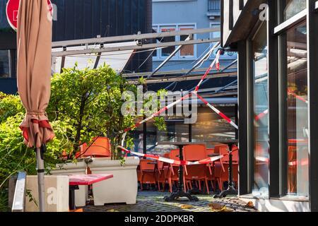 Der Alte Markt in Kiel ein gastronomischer Hotspot, während des Corona-Lockdowns menschenleer