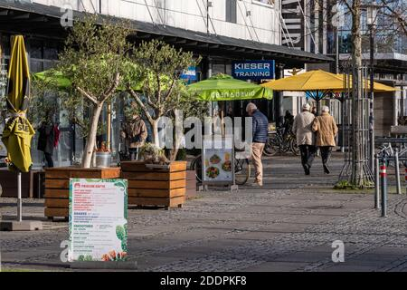 Leere Innestadt in der Landeshauptstadt Kiel während das Corona Lockdowns