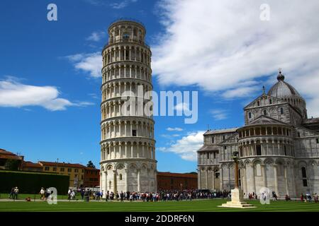 Leaning Tower with Pisa Cathedral
