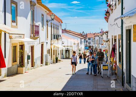 Sunny street in the old town. Miranda do Douro, Terras de Trás-os-Montes, Portugal, Europe
