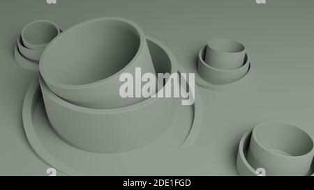 Abstract 3D illustration for background design. Geometric shapes. 3D Rendering.