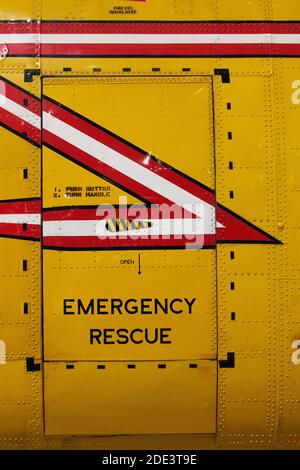 Emergency Rescue Helicopter Door, Canada Aviation and Space Museum, Ottawa, Ontario, Canada
