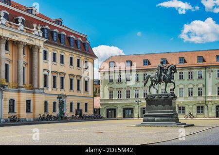 Square of Democracy, Weimar, Thuringia, Germany, Europe - Stock Photo