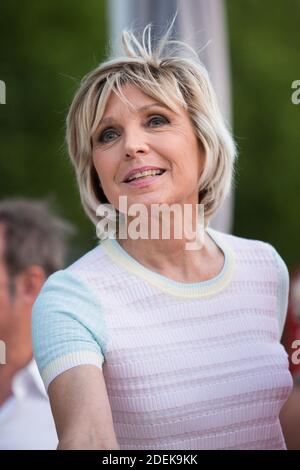 Evelyne Dheliat lors de la 7eme Edition de la Petanque Gastronomique au Port de Grenelle le 27 juin 2019 à Paris, France. Photo by Nasser Berzane/ABACAPRESS.COM - Stock Photo