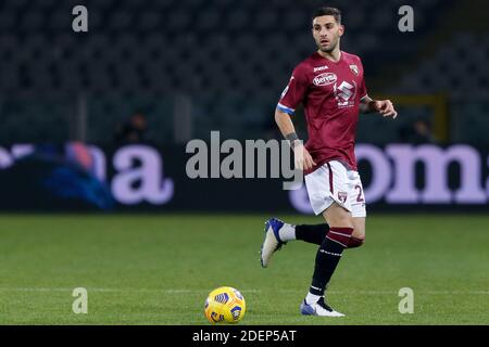 Turin, Italy. 30th Nov, 2020. Nicola Murru (Torino FC) during Torino FC vs UC Sampdoria, Italian football Serie A match in turin, Italy, November 30 2020 Credit: Independent Photo Agency/Alamy Live News - Stock Photo