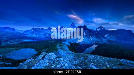 The Evening of Mount Assiniboine