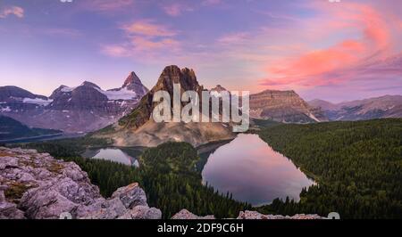 Sunrise at Mount Assiniboine