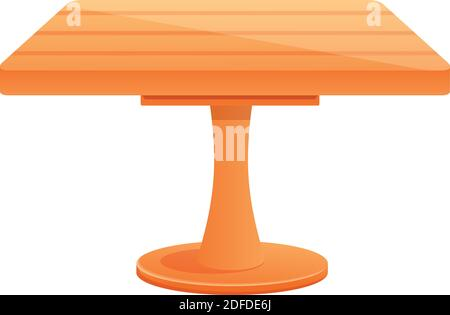 Outdoor table icon. Cartoon of outdoor table vector icon for web design isolated on white background - Stock Photo
