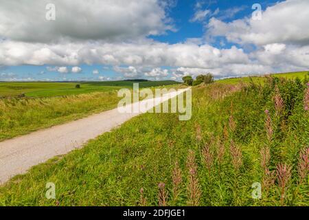 View of the Tissington Trail, Tissington, Peak District National Park, Derbyshire, England, United Kingdom, Europe Stock Photo