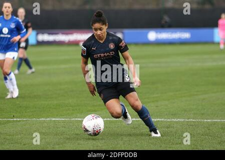 Liverpool, UK. 06th Dec, 2020. Demi Stokes of Manchester City in action. Barclays Women's super league match, Everton Women v Manchester City Women at Walton Hall Park in Liverpool on Sunday 6th December 2020. this image may only be used for Editorial purposes. Editorial use only, license required for commercial use. No use in betting, games or a single club/league/player publications.pic by Chris Stading/Andrew Orchard sports photography/Alamy Live News Credit: Andrew Orchard sports photography/Alamy Live News - Stock Photo