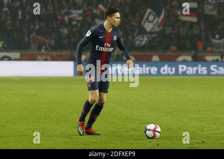 PSG's Julian Draxler during the French First League soccer match, PSG vs Nantes in Parc des Princes, France, on December 22nd, 2018. PSG won 1-0. Photo by Henri Szwarc/ABACAPRESS.COM