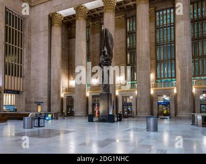 Angel Of Ascension Statue, 30th Street Railway Station, Philadelphia, USA - Stock Photo