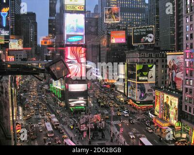 NEW YORK CITY - AUG 11: Times Square ,is a busy tourist intersection of neon art and commerce and is an iconic street of New Yor