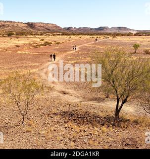 Nature wild   and outback in   the  meteorite fall - Stock Photo