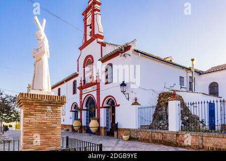 The Sanctuary of Our Lady of the Remedies was constructed in the 18th century, in Andalucian style on the foundations of a small hermitage. Olvera, Cá